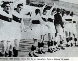 Nereo Rocco con la Triestina nel 1935